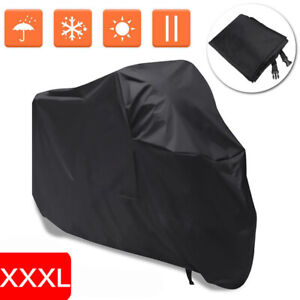 3XL Black Motorcycle Cover Waterproof For Harley Davidson Electra Glide Ultra US