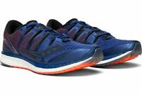 Saucony Mens Liberty ISO Running Shoes, Blue/Black/Viz Red