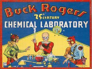 "BUCK ROGERS CHEMICAL LABORATORY 9"" x 12"" ALUMINUM SIGN"