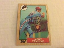 1987 Topps 684 Kent Tekulve Phillies Autographed Auto Signed Card