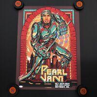Chris Chelios Signed Pearl Jam Gig Poster Detroit Ins HOF 2013 #24 10.16.14 JSA