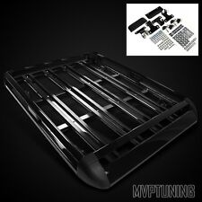 "50"" x 38"" Black Aluminum Roof Mounted Luggage Rack Holder/Cargo Carrier Basket"