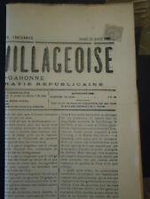 FRANCE BLANC 107 LETTRE ENVELOPPE COVER JOURNAL FEUILLE VILLAGEOISE TARN GARONNE