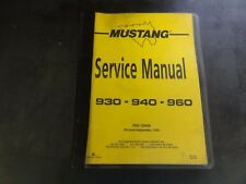 Mustang 930 940 960 Service Manual   000-12909