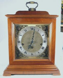 SETH THOMAS 8-DAY  KEY WIND WESTMINSTER CHIME BRACKET MANTEL CLOCK--RUNNING