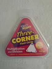 Three-Cornered Flash Cards Multiplication and Division Trend Enterprises SCHOOL