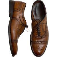 Allen Edmonds Strand Walnut Oxford Brogue Leather Dress Shoes Men's Size 8.5D