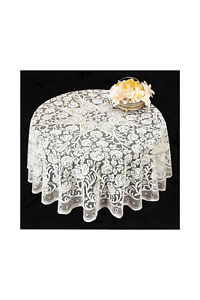 40 Inch Round Lace Tablecloth table topper Roses Floral Design for small tables