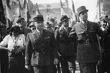 WW2 - Photo 20x15 Vannes 1944 - Le Général de Gaulle et le Colonel Rémy