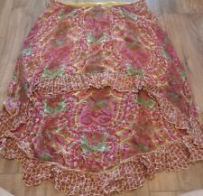 BILA Floral Hi Lo Hem Skirt Size XL Great Condition