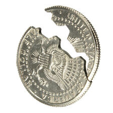 Magic Close-Up Street Trick Bite Coin Bite And Restored Half Dollar illusion WFI