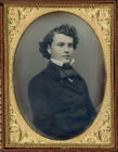 THE MOST HANDSOME MAN WITH THE PRETTIEST CURLS AND FACIAL TINT DAGUERREOTYPE DAG