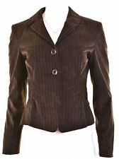SPORTMAX BY MAX MARA Womens 3 Button Blazer Jacket UK 10 Small Brown  LY15