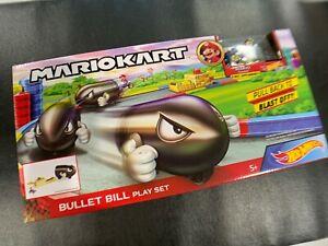 Hot Wheels Nintendo Mario Kart Bullet Bill Play Set Mario Sneeker 1st APP  *NEW*