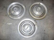Simca Set Of 3 Hub Caps Original Equipment OEM Good Used or Wall Decorations