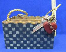 Picnic Utensil Napkin Caddy Holder Wooden Hand Crafted Organizer Patio Deck