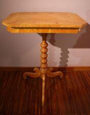 Antico tavolino Biedermeier in betulla - Nord Europa - 1800