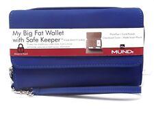 MY BIG FAT WALLET Mundi Women Faux Leather Ladies RFID Clutch Blue  I747X