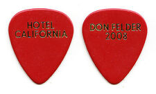 Eagles Don Felder Hotel California Red Guitar Pick #2 2008 Solo Tour