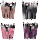 15 PZ Professionale Trucco Pennelli Di Cosmetici Eyebrow Lip Brush Make Up Set