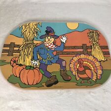 Vintage Fall Autumn Pumpkin Scarecrow Turkey Placemats Set Of 4