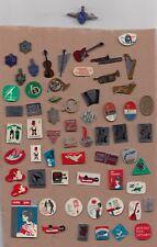 JOB LOT Collection Vintage TV RADIO pin badges 1960s VARA MUSIC INSTRUMENTS