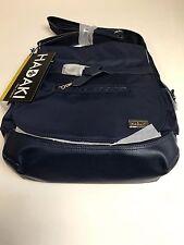 Hadaki Kiko Saddle Bag  Crossbody Flap Satchel  Purse 15 x 13 NAVY - NWT