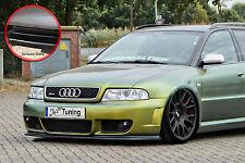 Spoilerschwert Frontspoilerlippe ABS für Audi RS4 B5 Avant  ABEschwarz glänzend