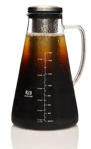 Ovalware Airtight Cold Brew Iced Coffee Maker and Tea Infuser - 1.5L / 51oz