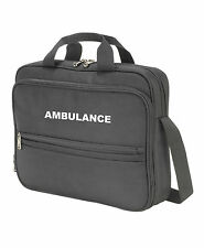 1 x AMBULANCE Black Laptop/Document Bag Paramedic First Responder Medic St John