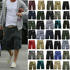 Plus Size Men Casual Pants Baggy Cargo Shorts Knee Length Casual Loose Trousers
