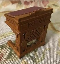 Bespaq Dollhouse Miniature Furniture Carved Slant Top Table Desk 381