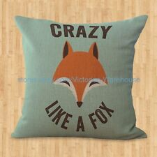 US SELLER- cushion cover fox animal throw pillows for bed decorating