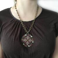 Collar  Redondo Con cadena -Regalo de Mujer - Artesanal -Elitt Bijoux- Bisuteria