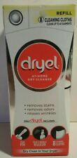Dryel At Home Dry Cleaner REFILL Kit 8 Dryer Activated Cleaning Cloths