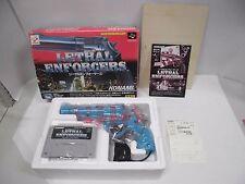 LETHAL ENFORCERS GUN set -- New. Super famicom, SNES. Japan game. Nintendo 13972