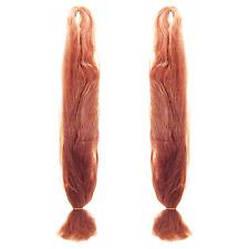 2x Korean Yaki Braids 48in Hair Extension #27 Strawberry Blonde New Ebony_144-72