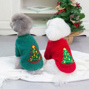 Pet Dog Christmas Style Fleece Pullover Puppy Fashion Warmer Sweatshirt Clothing
