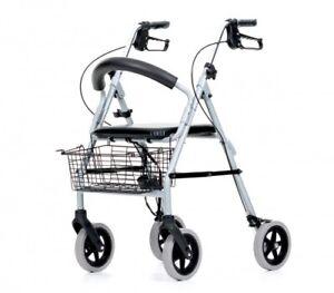 Leichtgewichtrollator Rollator Gehwagen mit Stockhalter Korb Rückengurt NEU