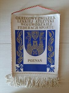 Vintage Pennant Banner - Poland Poznan Sports - Original # 43