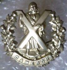Badge- WW1 British Army Cameron Highlanders Badge (WM,Org*) 2 Lugs
