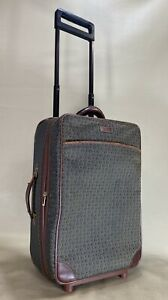 """Hartmann Wings Jacquard Brown 21"""" Upright Wheeled Exp Rolling Carry On Suitcase"""