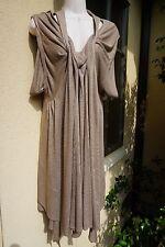 Yves Saint Laurent YSL 40 6 8 beige brown dress Asymmetrical Neiman Saks Italy M