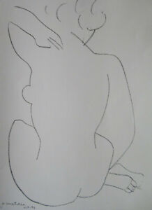 MATISSE -  NUDE  POSING III - LITHOGRAPH - 1952 - FREE SHIPPING IN THE US !!!