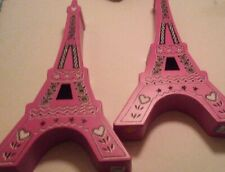 """Pink Metal Eiffel Towers wallhangings or table decoration 21"""" tall"""