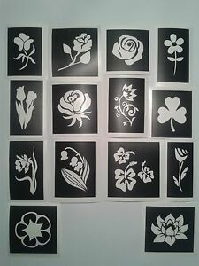Flower themed stencils for etching on glass (mixed)  craft  hobby  present  etch