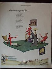 1949 Lees Carpets Glo-Tex Original Vintage Advertisement FREE SHIPPING