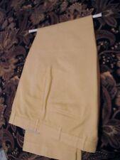 INCOTEX VENEZIA Men's Pants 36 30 Cotton Linen Flat Front Butter Yellow