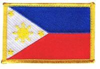 Philippinen Aufnäher Flaggen Fahnen Patch Aufbügler 8x6cm