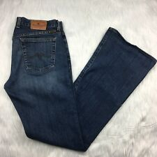 Lucky Brand Dungarees 8 29 Flare Jeans Mid Rise Medium Wash Made in USA Blue
